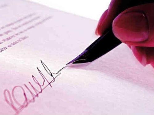 Presupuestos y firma de Contrato
