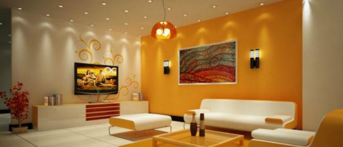 decoracion sala naranja, Colores para habitaciones