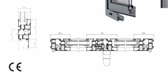 Cabecera detalle ventana aluminio