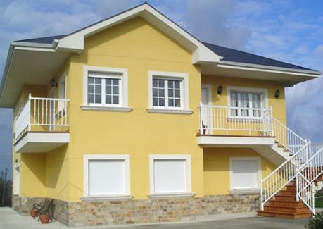 Fachadas de casas monocapa