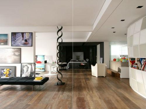 casas modernas, salón estar