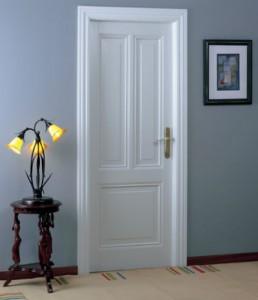 Puerta de interior lacada blanco