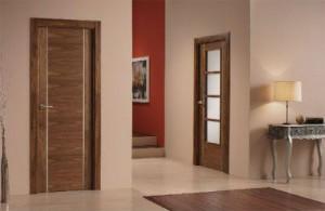 Puertas de interior acabado madera